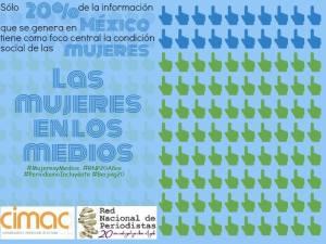 Sólo 20% de la información que se genera en México tiene como foco central la condición de las mujeres.